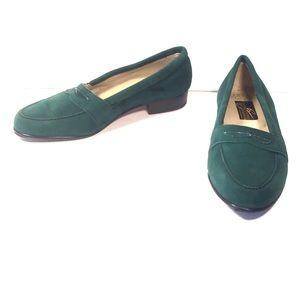 Vintage/New GIORGIO BRUTINI Green Suede Shoes, 7.5